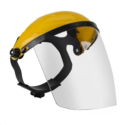 Ratchet Headgear Head and Face Shield Protection with Clear Visor